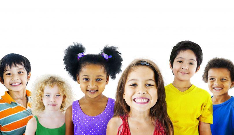 Ethnicity Diversity Gorup of Kids Friendship Cheerful Concept