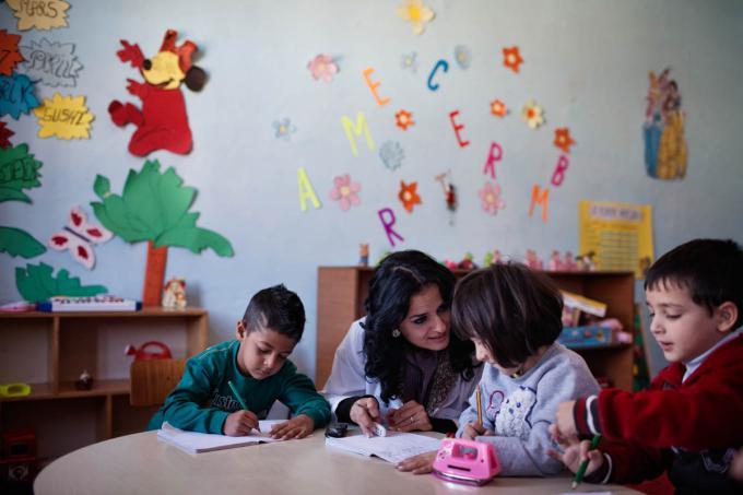 Children in kindergarten - Korca (2)